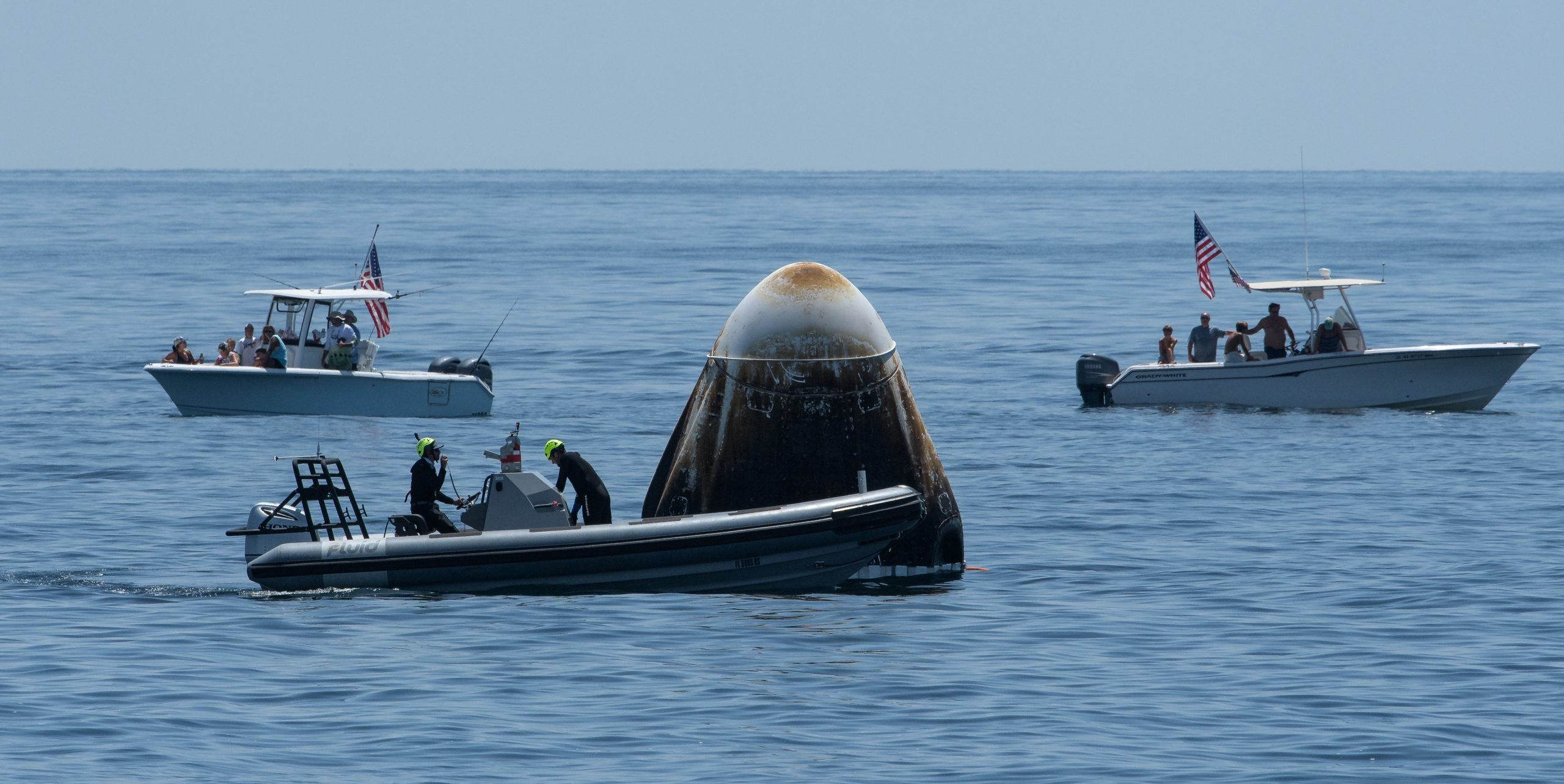 Fluid Boat Recovery of Dragon Capsule